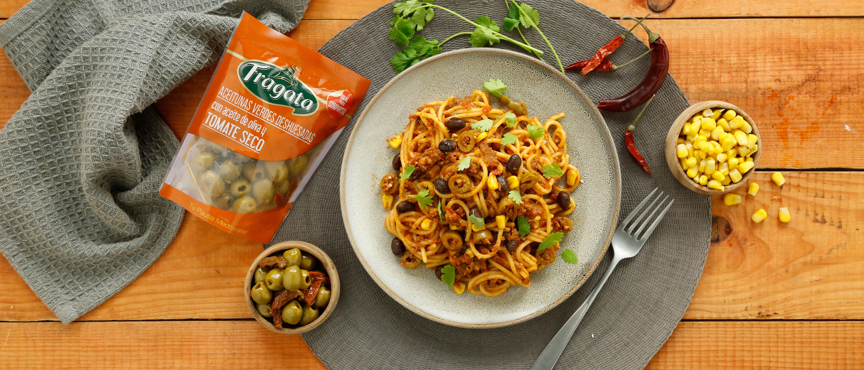 Espaguetis tex-mex. Descubre todo el sabor de la boloñesa