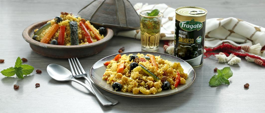 Tajine marroquí con verduras y aceitunas Fragata