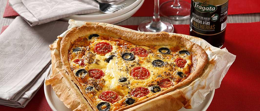 Rica receta con queso y aceitunas Fragata