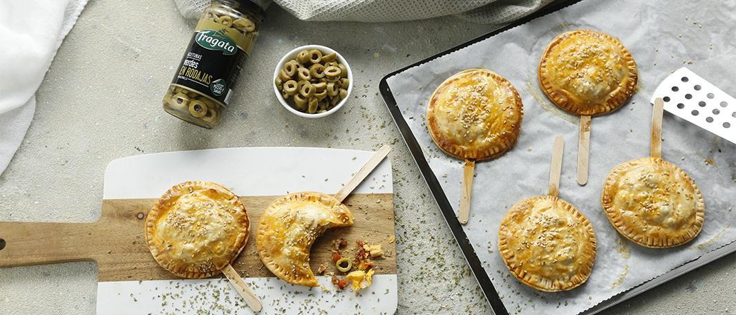 Piruletas de empanadillas de carne y aceitunas - Fragata
