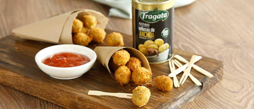 Snacks de aceitunas rellenas Fragata