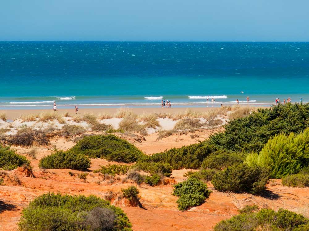 Playa La Barrosa en Chiclana de la Frontera, Cádiz