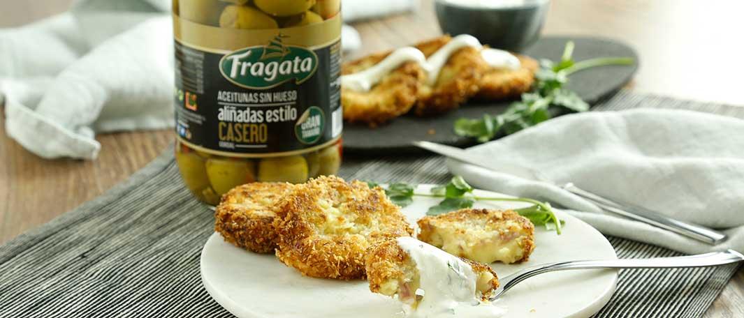 Deliciosos pastelitos de patata y aceitunas Fragata