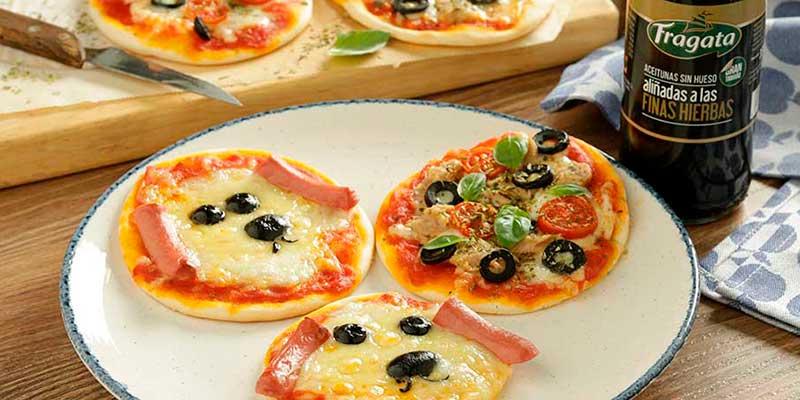 Mini pizzas con aceitunas Fragata en Vavidad - Fragata