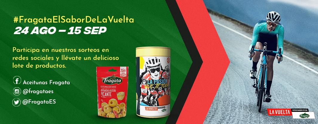 Concursos en redes Fragata con La Vuelta 2019 - Aceitunas Fragata