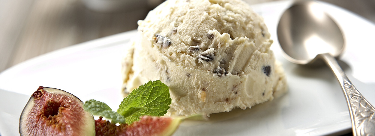 Olive and fig ice cream