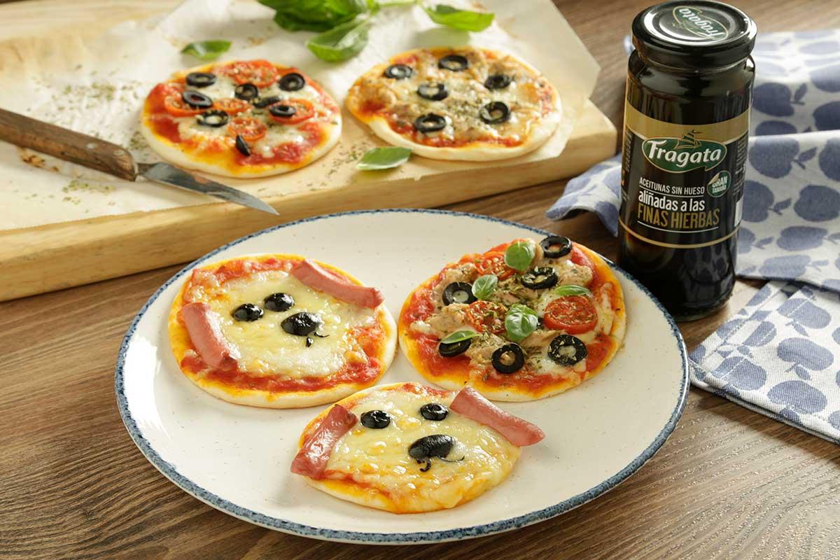 Paso 4 receta mini pizza de aceitunas Fragata