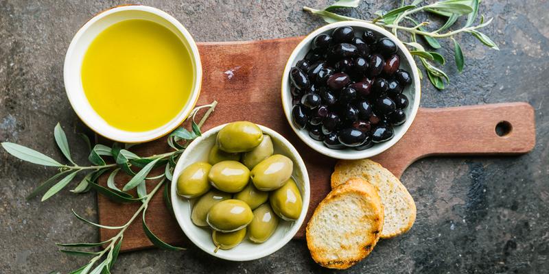 las aceitunas en las dietas veganas