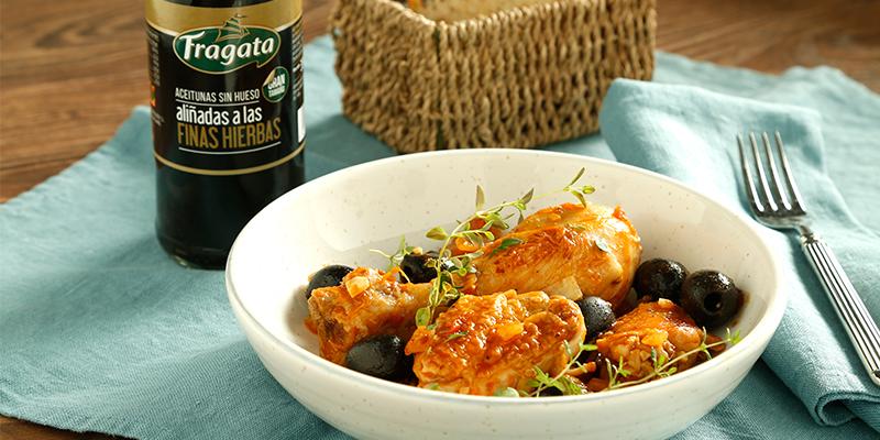 Riquísima receta de pollo con aceitunas Fragata