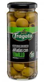 aceitunas-manzanilla-verdes-sin-hueso-alinadas-con-tomillo