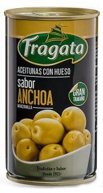 Aceitunas Gordal Verdes con Hueso Sabor Anchoa