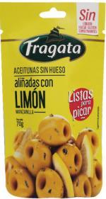 Aceitunas Manzanilla Verdes Sin Hueso Aliñadas con Limón