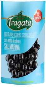 Aceitunas negras deshuesadas con aceite de oliva