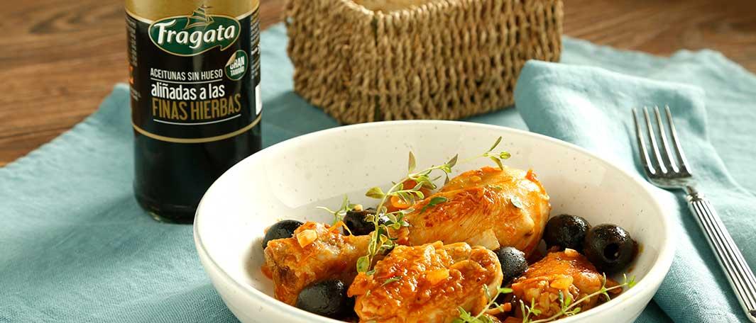 Delicioso pollo con aceitunas Fragata